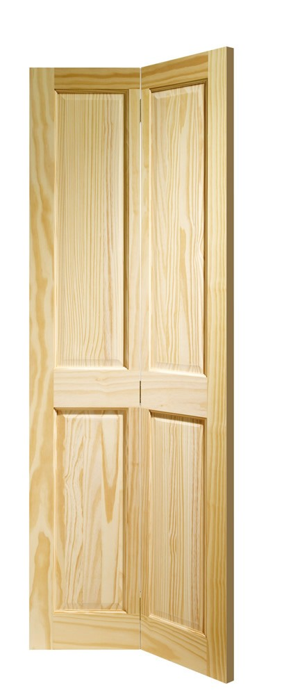 Victorian 4 Panel Bi-fold Internal Clear Pine Door