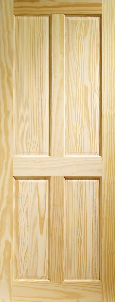 Victorian 4 Panel Internal Clear Pine Door