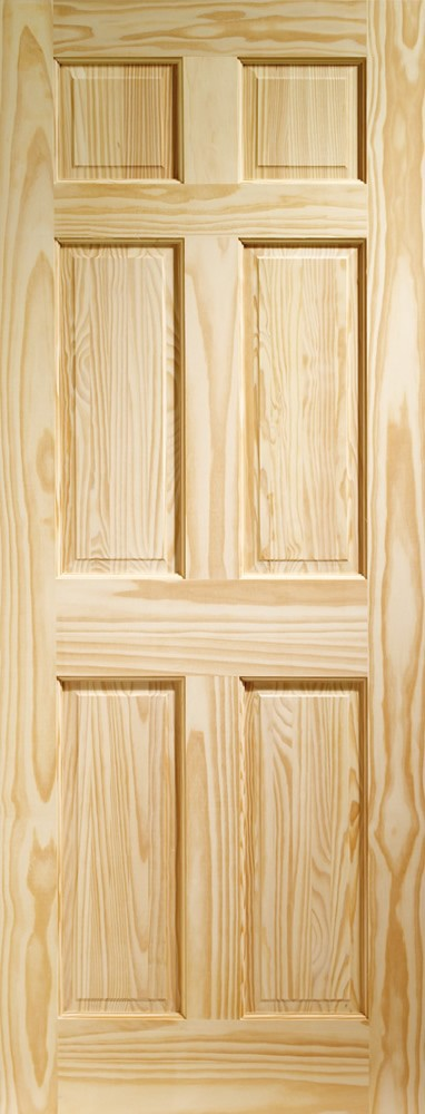 Colonial 6 Panel Internal Clear Pine Door