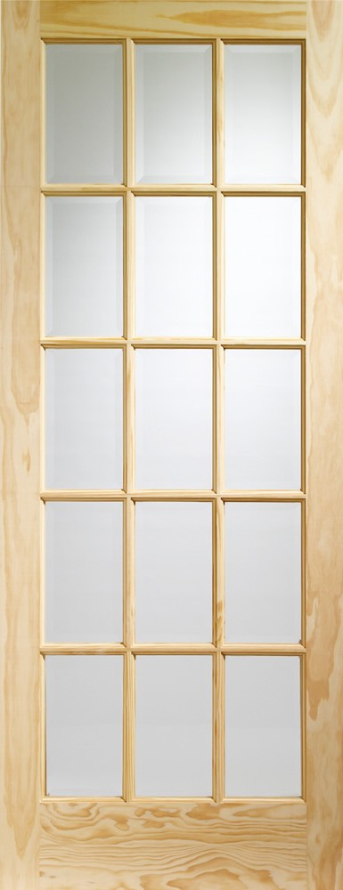 SA77 Internal Clear Pine Door with Clear Glass