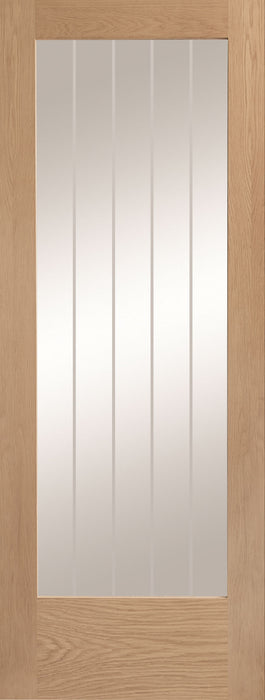 Suffolk Internal 1 Light Oak Door with Clear Etched Glass
