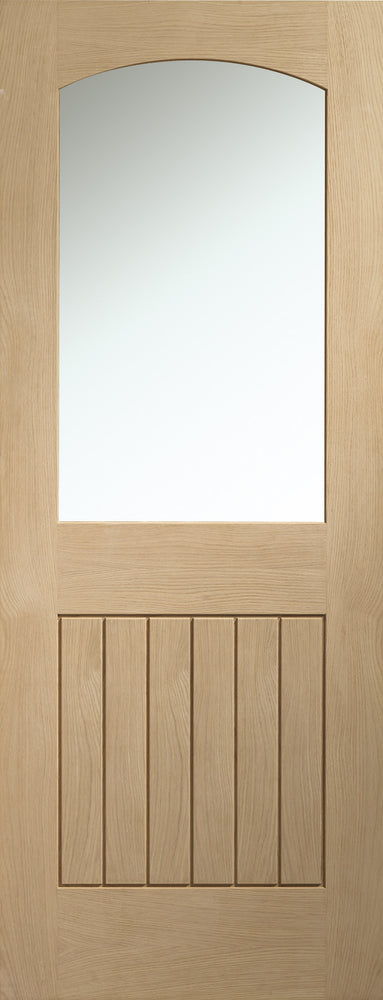 Sussex Internal Oak Door with Clear Glass