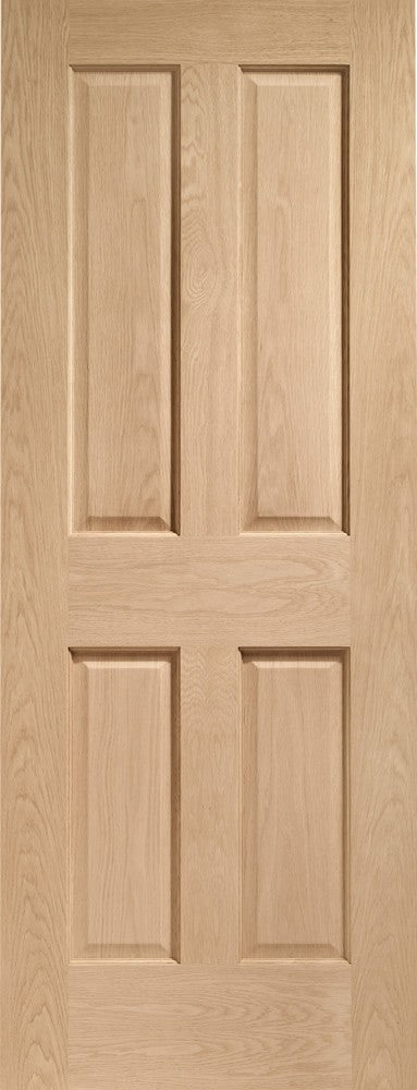 Victorian 4 Panel Pre-Finished Internal Oak Door