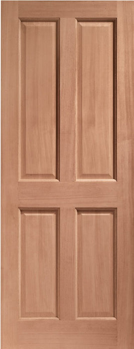 London 4 Panel External Hardwood Door (Dowelled)