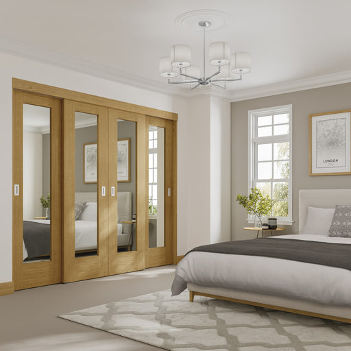 Oak 3 Door Double Top Wardrobe Frame (Inc Hardware Kit)