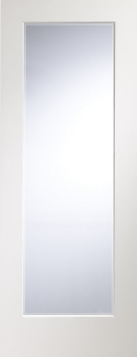 Cesena Pre-Finished White Internal Door with Clear Bevelled Glass