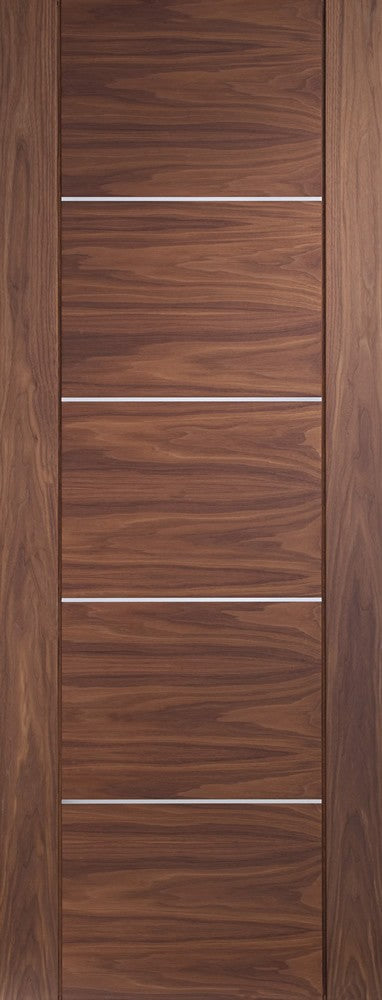 Portici Pre-Finished Internal Walnut Fire Door