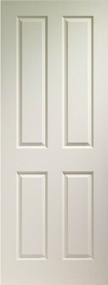 Victorian 4 Panel Internal White Moulded Door