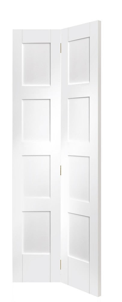 Shaker 4 Panel Bi-Fold Internal White Primed Door