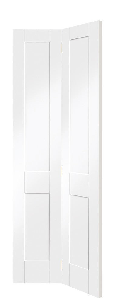 Victorian Shaker Bi-Fold Internal White Primed  Door