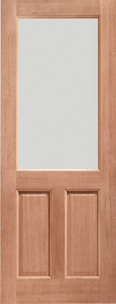 2XG Double Glazed External Hardwood Door (Dowelled) Clear Glass