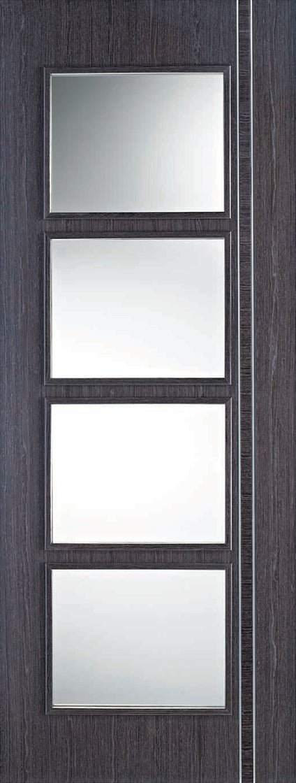 Ash Grey Zanzibar Glazed 4L Internal Door