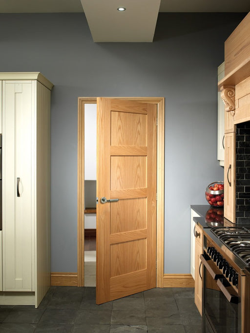 Shaker 4 Panel Internal Oak Fire Door