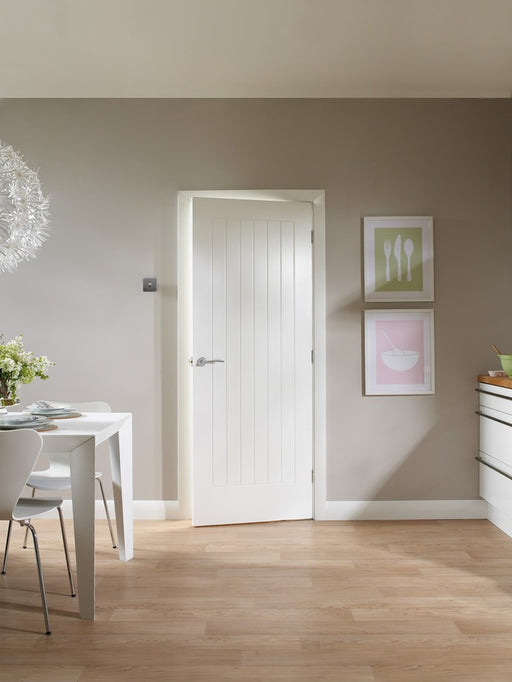 Suffolk Internal White Primed Door