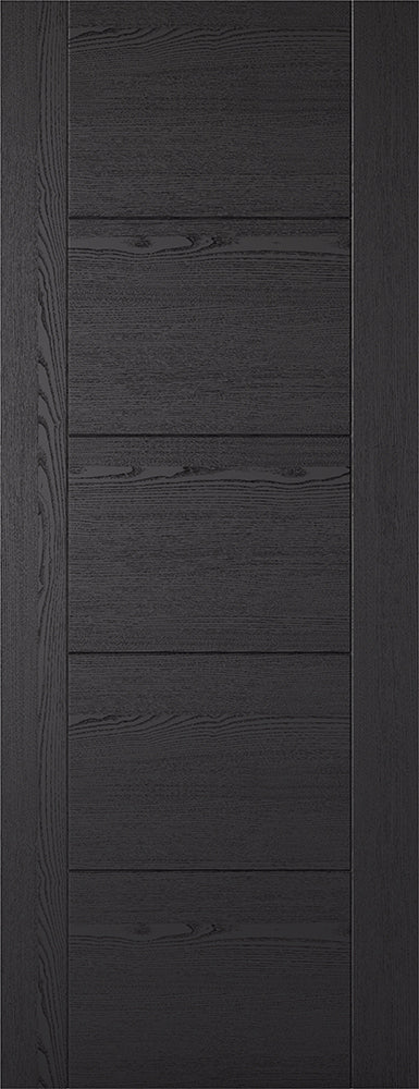Black Ash Laminated Vancouver 5P Internal Door