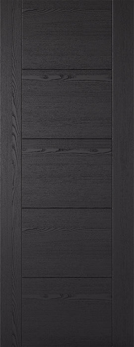 Black Ash Laminated Vancouver 5P Internal Door Fire Rated