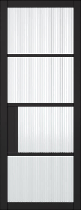 Black Chelsea 4L Reeded Internal Door