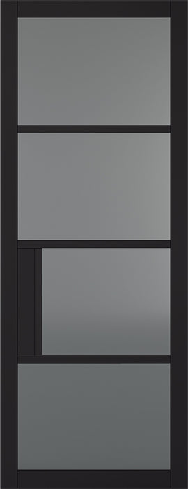 Black Chelsea 4L Tinted Internal Door