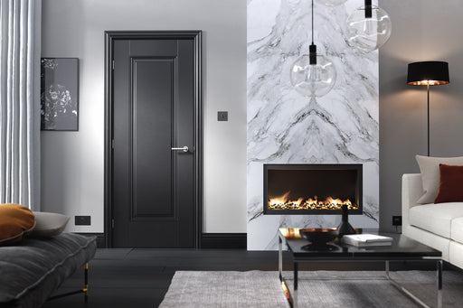 Black Eindhoven Internal Door Fire Rated