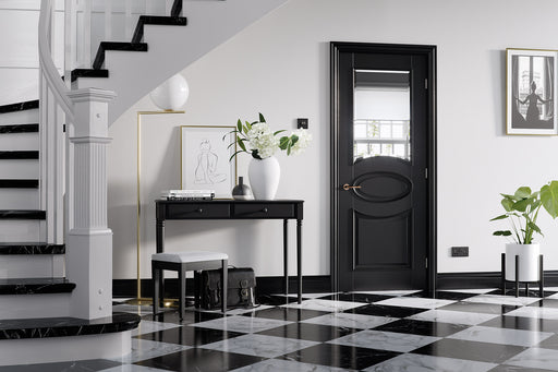 Black Versailles Glazed Internal Door