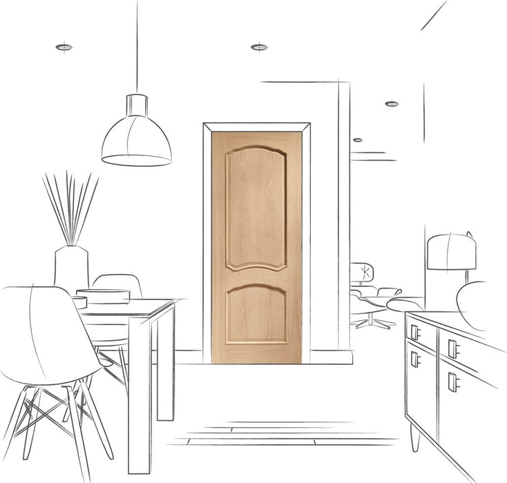 Louis Internal Oak Door with Raised Mouldings