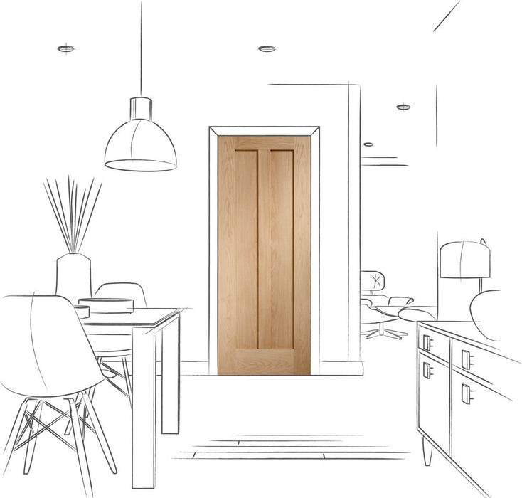 Novara Internal Oak Fire Door