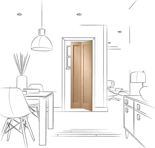 Pattern 10 Bi-Fold Internal Oak Door