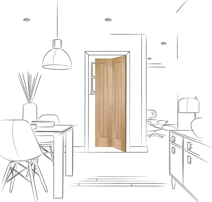 Suffolk Bi-Fold Internal Oak Door