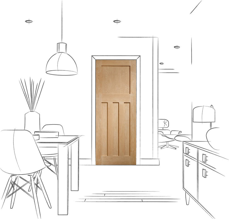 DX Internal Oak Fire Door