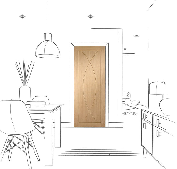 Pesaro Pre-Finished Internal Oak Door