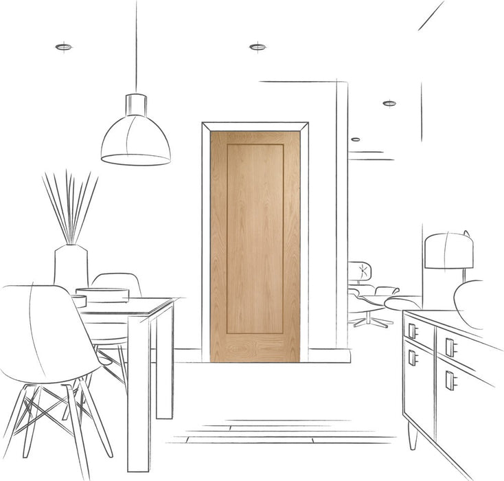 Pattern 10 Pre-Finished Internal Oak Door