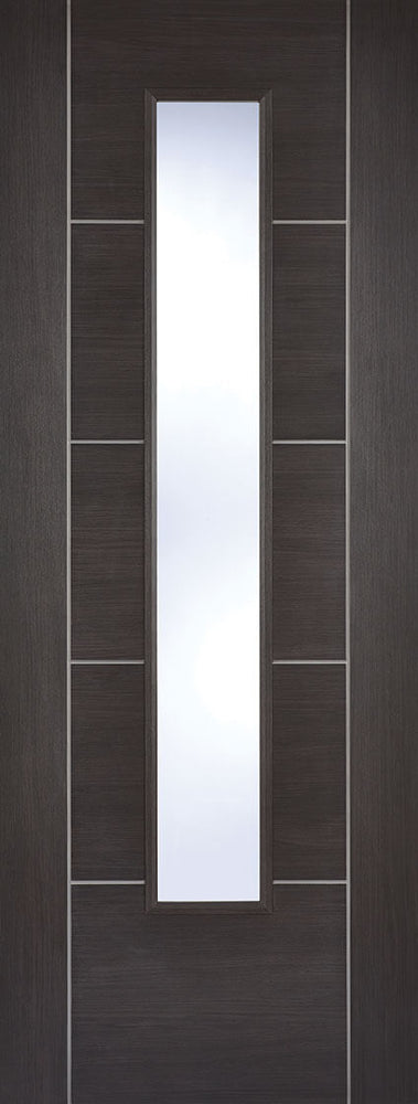 Dark Grey Laminated Vancouver Glazed Internal Door