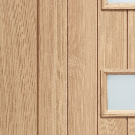 Siena Double Glazed External Oak Door (M&T) with Obscure Glass