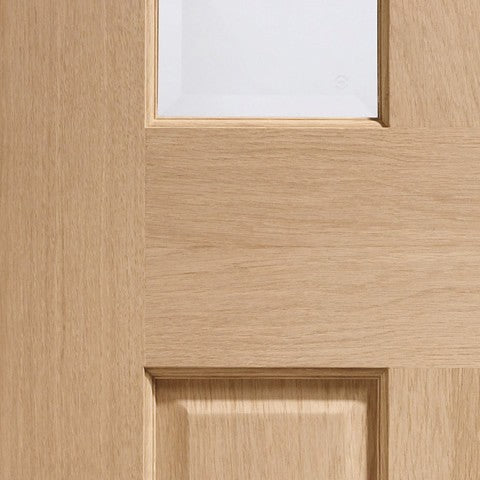 Malton Bi-Fold Internal Oak Door with Clear Bevelled Glass