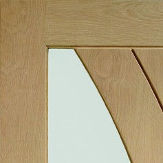 Oak Salerno Internal French Doors with Clear Glass