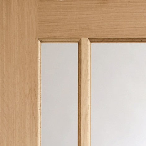 Worcester 3 Light Internal Oak Fire Door with Clear Glass