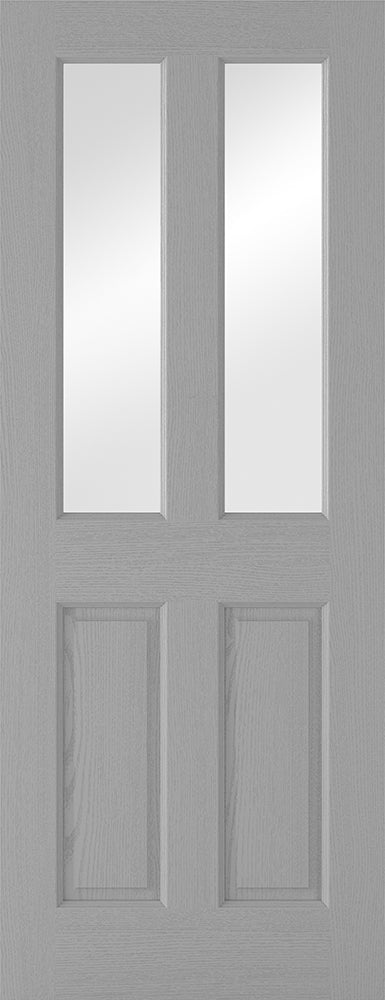 Grey Moulded Glazed 2P-2L Internal Door