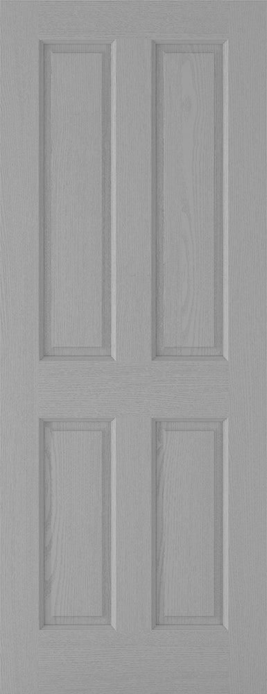 Grey Moulded Textured 4P Internal Door Fire Rated