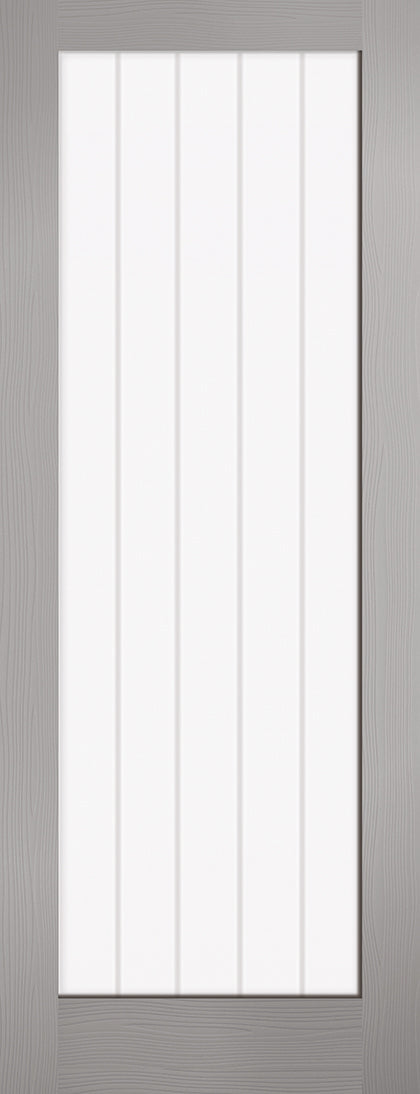 Grey Moulded Textured Vertical 1L Internal Door