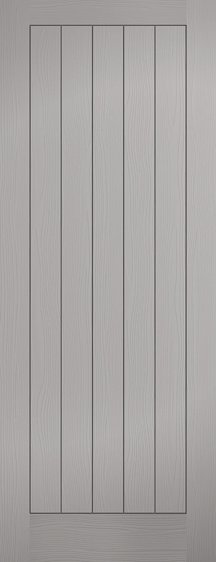 Grey Moulded Textured Vertical 5P Internal Door
