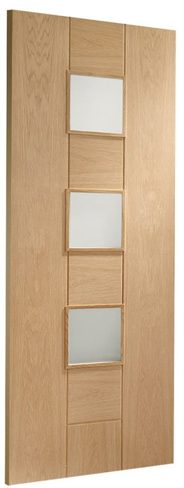 Messina Internal Oak Door with Obscure Glass