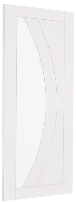 White Primed Salerno Internal French Doors with Clear Glass