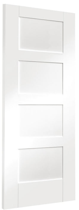Shaker 4 Panel Internal White Primed Fire Door