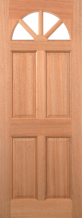 Hardwood Carolina 4P M&T Glazed External Door