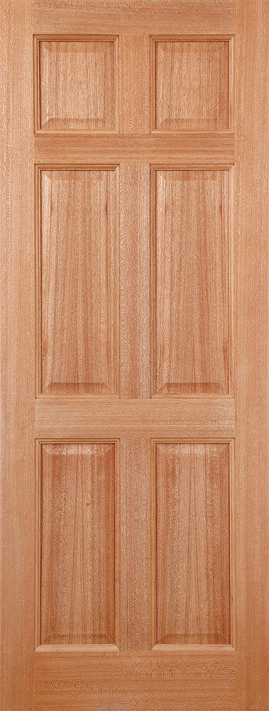 Hardwood Colonial 6P Dowelled External Door