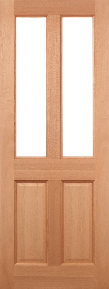 Hardwood Malton Glazed 2L Clear External Door