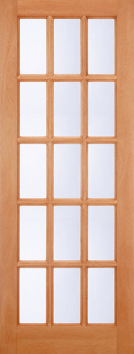 Hardwood SA 15L M&T Glazed Clear External Door