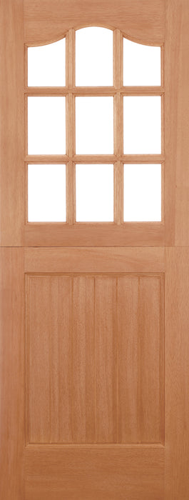 Hardwood Stable Glazed 9L M&T External Door