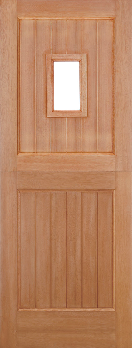 Hardwood Stable Straight Top Unglazed 1L M&T External Door