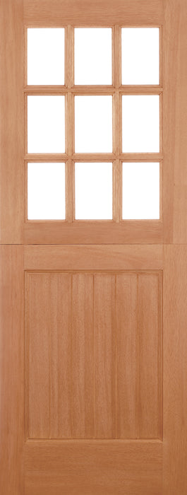 Hardwood Stable Straight Top Unglazed 9L M&T External Door